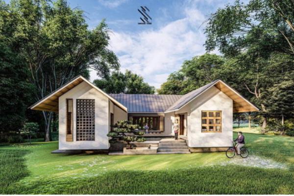 """Japanese style house """"U-Shape House"""" design"""